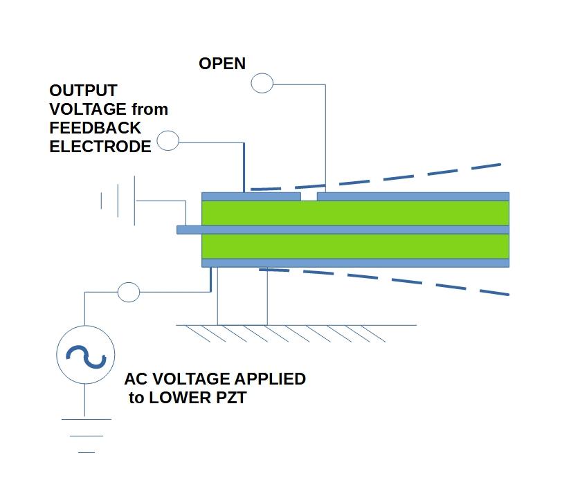 Voltage Excited Flapper Illustration