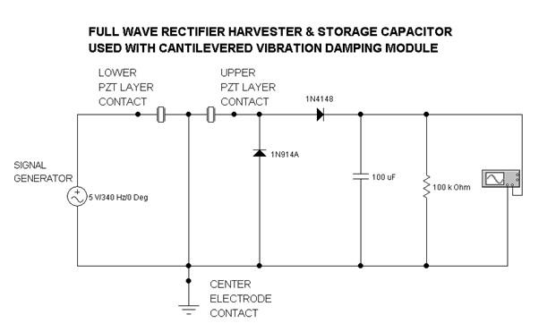 full wave rectifier harvester